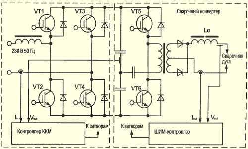 Схема сварочные аппараты инверторного типа 705